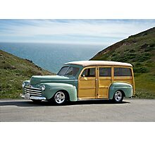 1947 Ford Woody Wagon Photographic Print
