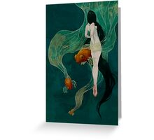 Swimming in Memories Greeting Card