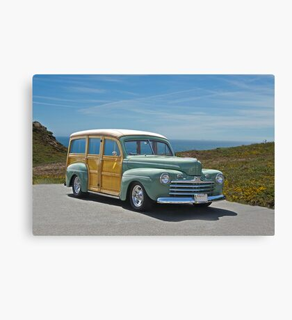 1947 Ford Woody Wagon II Canvas Print