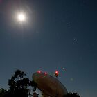 Parkes Radio Telescope and the Moon by LoriPiquemal