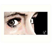 """The Corner of your eye""  Art Print"