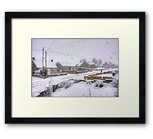 End of the Holiday Framed Print