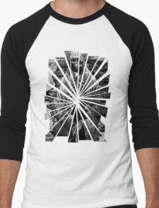 Grayscale Skeleton Men's Baseball ¾ T-Shirt