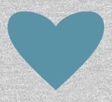 Blue Candy Heart One Piece - Long Sleeve