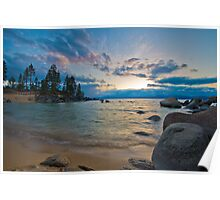 Sunset at Sand Harbor/Diver's Cove Poster