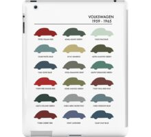 Vintage Colours VW Beetle  iPad Case/Skin