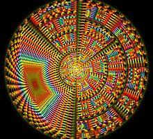The Happiness Mandala, fractal artwork by walstraasart
