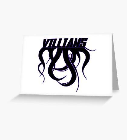 Villians Greeting Card