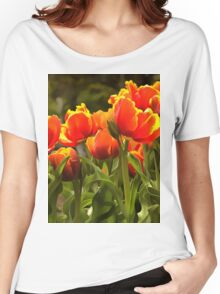 Spring Tulip Blossoms Women's Relaxed Fit T-Shirt