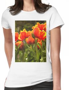 Spring Tulip Blossoms Womens Fitted T-Shirt