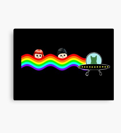 Mulder Scully Nyan Cat Canvas Print