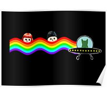 Mulder Scully Nyan Cat Poster