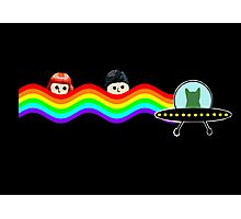 Mulder Scully Nyan Cat Photographic Print