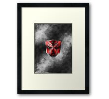 Autobot Symbol - Damaged Metal 1 Framed Print