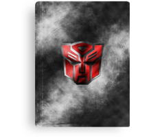 Autobot Symbol - Damaged Metal 1 Canvas Print