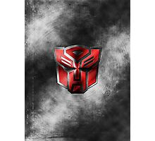 Autobot Symbol - Damaged Metal 1 Photographic Print