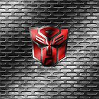 Autobot Symbol - Damaged Metal 2 by Jeffery Borchert