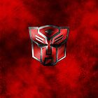 Autobot Symbol - Damaged Metal 3 by Jeffery Borchert