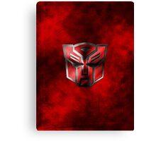 Autobot Symbol - Damaged Metal 3 Canvas Print