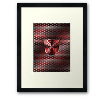 Autobot Symbol - Damaged Metal 4 Framed Print
