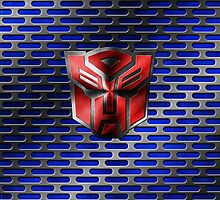 Autobot Symbol - Damaged Metal 6 by Jeffery Borchert