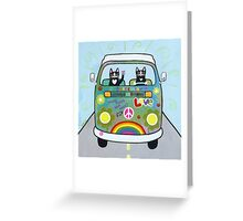 The Hippie Bus Greeting Card