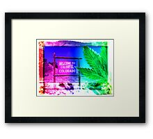 Welcome to Colorado: Now serving High Altitude Snacks Framed Print
