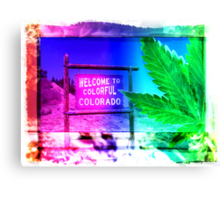 Welcome to Colorado: Now serving High Altitude Snacks Canvas Print