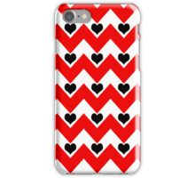 hearts&chevron - black&red iPhone Case/Skin