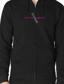 The De-Vamper (Clothing/pink/gray design) Zipped Hoodie