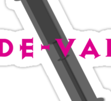The De-Vamper (Clothing/pink/gray design) Sticker