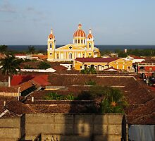 View from Iglesia La Merced, Granada, Nicaragua by Kurt  Van Wagner
