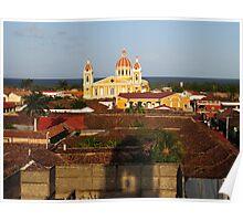 View from Iglesia La Merced, Granada, Nicaragua Poster