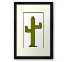Pixel Saguaro Framed Print