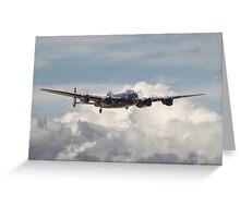 RAF Avro Lancaster  Greeting Card