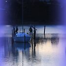 Picasa edited image - purple hued boat by gaylene
