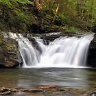 Lower Twin Falls on Heberly Run by Gene Walls