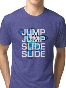 Mega Man: Jump Jump Slide Slide Tri-blend T-Shirt