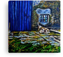 Ewe and Lambs, on the Carrickfergus Road, Glynn, Larne Canvas Print