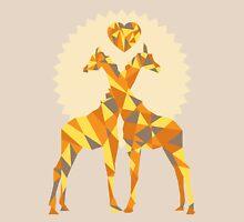 Giraffe Love Womens Fitted T-Shirt