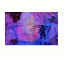 In the mist of the falls, watercolor Art Print