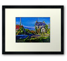 Deserted Farmhouse at Straidkilly, near Carnlough, Antrim Coast Framed Print