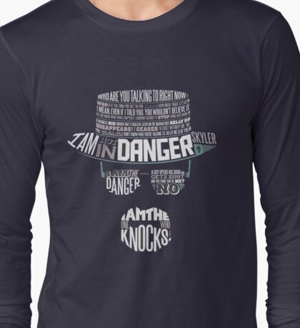 Heisenberg- The One Who Knoks Long Sleeve T-Shirt