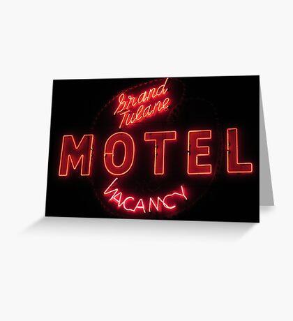 Grand Tulane Motel Greeting Card