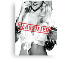 Classified - Cherry Canvas Print