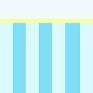 Blue Stripes/Plain iPhone Case by IanPeriwinkle