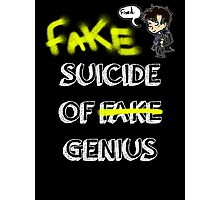 Fake suicide of genius. Photographic Print