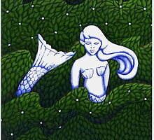 Mermaid Sculpture in the  Garden V2.0 by Donna Huntriss