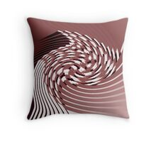 Red Malestrom Throw Pillow