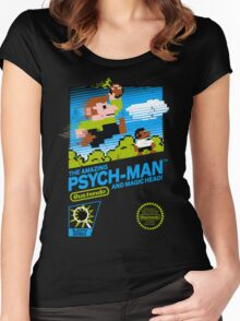 The Amazing Psych-Man!! (and Magic Head) Women's Fitted Scoop T-Shirt